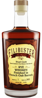 Filibuster Rye Whiskey Dual Cask 750ml